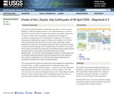 Earthquake Summaries: Poster of the L'Aquila, Italy Earthquake of April 6, 2009 - Magnitude 6.3