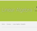 Linear Algebra 1 (English)