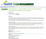 Introduction to Chemistry Tools and Vocabulary through Word Walls and Centers