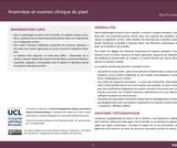OER-UCLouvain: Anamnèse et examen clinique du pied