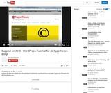 Support on Air 3: WordPress-Tutorial für de.hypotheses-Blogs (de.hypotheses)
