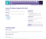 CS Fundamentals 4.16: Binary Images with Artist
