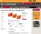 Mathematical Methods in Nanophotonics, Spring 2008