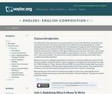 English Composition I