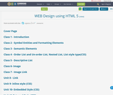 WEB Design using HTML 5