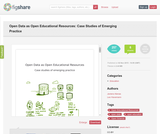 Open Data as Open Educational Resources: Case studies of emerging practice