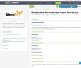 BlendEd Best Practices Unit: Project Food Truck