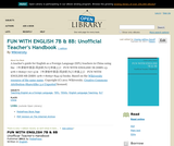 FUN WITH ENGLISH 7B & 8B: Unofficial Teacher's Handbook