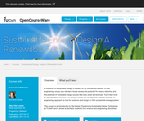 Sustainable Energy: Design A Renewable Future