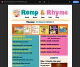 Romp & Rhyme Storytime Parent Activity Sheet: It Starts with C