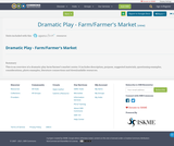 Dramatic Play - Farm/Farmer's Market