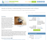 Understanding Communication with a Robot