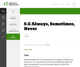 5.G Always, Sometimes, Never