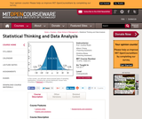 Statistical Thinking and Data Analysis, Fall 2011