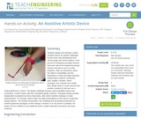 An Assistive Artistic Device