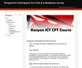 Prospective Participants Pre-Test & e-Readiness Survey