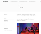 Teach Design: Props