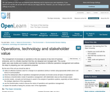 Operations, Technology and Stakeholder Value