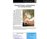 Hopewell Furnace: A Pennsylvania Iron-making Plantation