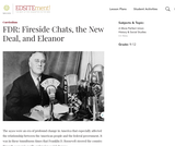 FDR: Fireside Chats, the New Deal, and Eleanor