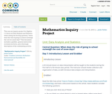 Mathematics Inquiry Project