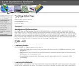 Earth Exploration Toolbook Chapter: Teaching Notes Page