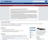 Language Families in North Carolina (Native American)