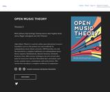 OPEN MUSIC THEORY