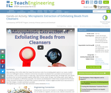 Microplastic Extraction of Exfoliating Beads from Cleansers