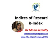 h index: Tool for assessing productivity and impact of researchers