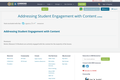 Addressing Student Engagement with Content
