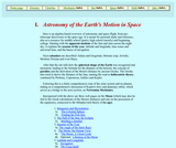 Astronomy of the Earth's Motion in Space