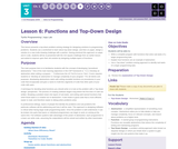 CS Principles 2019-2020 3.6: Functions and Top-Down Design