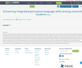 Enhancing integrated persuasive language skills among university students