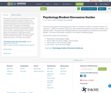 Psychology Student Discussion Guides
