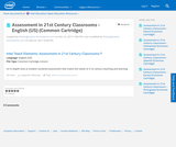 Assessment in 21st Century Classrooms - English (US) (Common Cartridge)