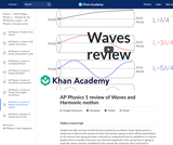 AP Physics 1 review of Waves and Harmonic motion