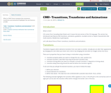 CSS3 - Transitions, Transforms and Animations
