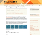 Bacteria Population Growth Lesson Plan for the HSE Classroom