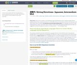 道案内 / Giving Directions - Japanese, Intermediate Mid
