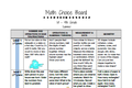 Math Choice Boards: 1st - 4th Grade