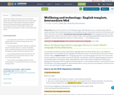 Wellbeing and technology - English template, Intermediate Mid
