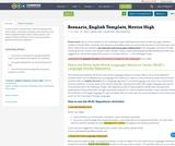 Scenario, English Template, Novice High
