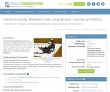 Movement Task Using Sensors - Humans and Robots