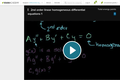 Differential Equations: 2nd Order Linear Homogeneous Differential Equations 1