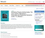 Workshop Physics Activity Guide, The Core Volume: Mechanics I: Kinematics and Newtonian Dynamics (Units 1-7), Module 1