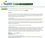 Investigating Local Stream Discharge