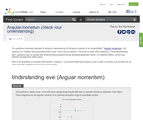 Angular momentum (check your understanding)