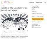 Lesson 1: The Question of an American Empire