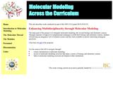 Molecular Modeling across the Curriculum